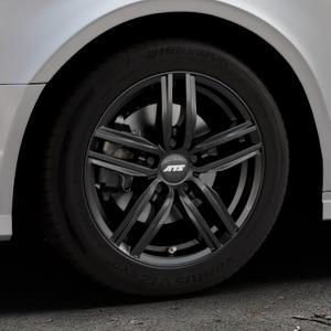ATS Antares diamant-schwarz Felge mit Reifen in 16Zoll Winterfelge Alufelge auf silbernem Audi A3 Typ 8V (Limousine) Facelift ⬇️ mit 15mm Tieferlegung ⬇️ Industriehalle 1 Thumbnail