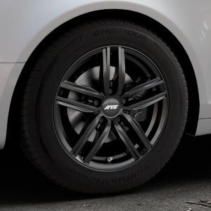 ATS Antares diamant-schwarz Felge mit Reifen in 16Zoll Winterfelge Alufelge auf silbernem Audi A6 Typ 4F/C6 (Avant) ⬇️ mit 15mm Tieferlegung ⬇️ Industriehalle 1 Thumbnail