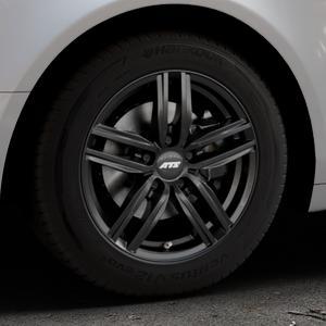 ATS Antares diamant-schwarz Felge mit Reifen in 16Zoll Winterfelge Alufelge auf silbernem Audi A6 Typ 4F/C6 (Limousine) ⬇️ mit 15mm Tieferlegung ⬇️ Industriehalle 1 Thumbnail