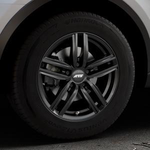 ATS Antares diamant-schwarz Felge mit Reifen in 16Zoll Winterfelge Alufelge auf silbernem Audi Q3 I Typ 8U Facelift ⬇️ mit 15mm Tieferlegung ⬇️ Industriehalle 1 Thumbnail
