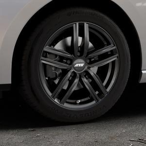 ATS Antares diamant-schwarz Felge mit Reifen in 16Zoll Winterfelge Alufelge auf silbernem Seat Leon Typ 5F ST Facelift ⬇️ mit 15mm Tieferlegung ⬇️ Industriehalle 1 Thumbnail