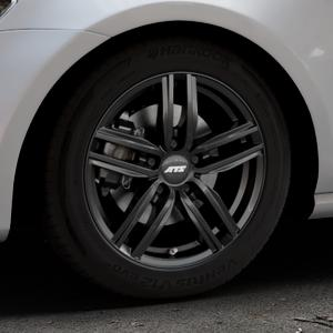 ATS Antares diamant-schwarz Felge mit Reifen in 16Zoll Winterfelge Alufelge auf silbernem Volkswagen (VW) Golf 7 ⬇️ mit 15mm Tieferlegung ⬇️ Industriehalle 1 Thumbnail