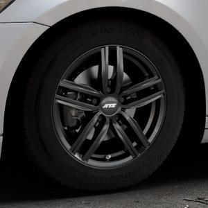 ATS Antares diamant-schwarz Felge mit Reifen in 16Zoll Winterfelge Alufelge auf silbernem Volkswagen (VW) Passat 3C/B8 Limousine Variant ⬇️ mit 15mm Tieferlegung ⬇️ Industriehalle 1 Thumbnail