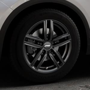 ATS Antares diamant-schwarz Felge mit Reifen in 16Zoll Winterfelge Alufelge auf silbernem Volkswagen (VW) T-Roc ⬇️ mit 15mm Tieferlegung ⬇️ Industriehalle 1 Thumbnail