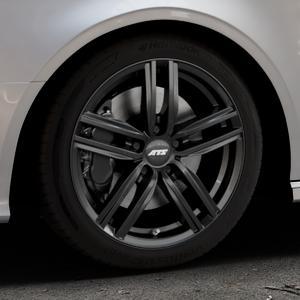 ATS Antares diamant-schwarz Felge mit Reifen in 17Zoll Winterfelge Alufelge auf silbernem Audi A3 Typ 8V (Cabriolet) ⬇️ mit 15mm Tieferlegung ⬇️ Industriehalle 1 Thumbnail