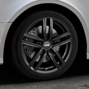ATS Antares diamant-schwarz Felge mit Reifen in 17Zoll Winterfelge Alufelge auf silbernem Audi A3 Typ 8V (Limousine) Facelift ⬇️ mit 15mm Tieferlegung ⬇️ Industriehalle 1 Thumbnail