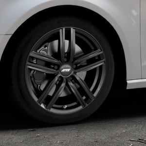ATS Antares diamant-schwarz Felge mit Reifen in 17Zoll Winterfelge Alufelge auf silbernem Audi A3 Typ 8V ⬇️ mit 15mm Tieferlegung ⬇️ Industriehalle 1 Thumbnail
