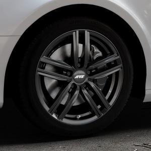 ATS Antares diamant-schwarz Felge mit Reifen in 17Zoll Winterfelge Alufelge auf silbernem Audi A4 Typ 8K5/B8 (Avant) ⬇️ mit 15mm Tieferlegung ⬇️ Industriehalle 1 Thumbnail