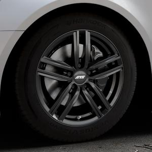 ATS Antares diamant-schwarz Felge mit Reifen in 17Zoll Winterfelge Alufelge auf silbernem Audi A6 Typ 4G/C7 (Avant) Facelift ⬇️ mit 15mm Tieferlegung ⬇️ Industriehalle 1 Thumbnail