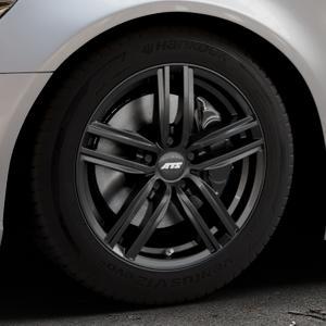 ATS Antares diamant-schwarz Felge mit Reifen in 17Zoll Winterfelge Alufelge auf silbernem Audi A6 Typ 4G/C7 (Limousine) ⬇️ mit 15mm Tieferlegung ⬇️ Industriehalle 1 Thumbnail