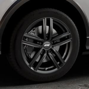 ATS Antares diamant-schwarz Felge mit Reifen in 17Zoll Winterfelge Alufelge auf silbernem Audi Q2 Typ GA ⬇️ mit 15mm Tieferlegung ⬇️ Industriehalle 1 Thumbnail