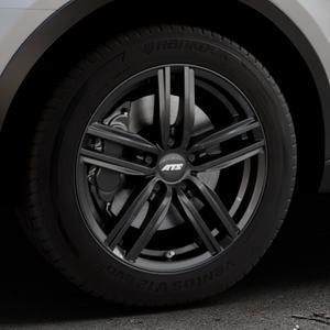 ATS Antares diamant-schwarz Felge mit Reifen in 17Zoll Winterfelge Alufelge auf silbernem Audi Q3 I Typ 8U Facelift ⬇️ mit 15mm Tieferlegung ⬇️ Industriehalle 1 Thumbnail