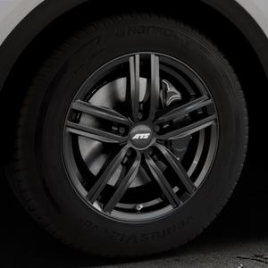 ATS Antares diamant-schwarz Felge mit Reifen in 17Zoll Winterfelge Alufelge auf silbernem Audi Q5 II Typ FY ⬇️ mit 15mm Tieferlegung ⬇️ Industriehalle 1 Thumbnail
