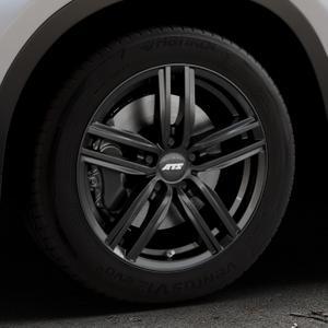 ATS Antares diamant-schwarz Felge mit Reifen in 17Zoll Winterfelge Alufelge auf silbernem BMW X1 Typ F48 (UKL-L) (F1X) ⬇️ mit 15mm Tieferlegung ⬇️ Industriehalle 1 Thumbnail