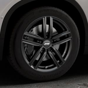 ATS Antares diamant-schwarz Felge mit Reifen in 17Zoll Winterfelge Alufelge auf silbernem BMW X2 Typ F39 (F2X) ⬇️ mit 15mm Tieferlegung ⬇️ Industriehalle 1 Thumbnail