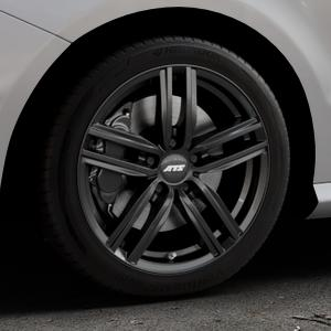 ATS Antares diamant-schwarz Felge mit Reifen in 17Zoll Winterfelge Alufelge auf silbernem Mercedes B-Klasse Typ W246 Facelift ⬇️ mit 15mm Tieferlegung ⬇️ Industriehalle 1 Thumbnail