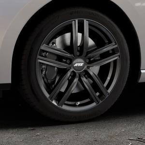 ATS Antares diamant-schwarz Felge mit Reifen in 17Zoll Winterfelge Alufelge auf silbernem Seat Leon Typ 5F ST Facelift ⬇️ mit 15mm Tieferlegung ⬇️ Industriehalle 1 Thumbnail