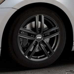 ATS Antares diamant-schwarz Felge mit Reifen in 17Zoll Winterfelge Alufelge auf silbernem Volkswagen (VW) Passat 3C/B8 Limousine Variant ⬇️ mit 15mm Tieferlegung ⬇️ Industriehalle 1 Thumbnail