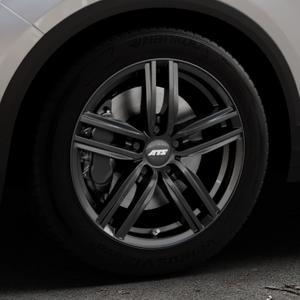 ATS Antares diamant-schwarz Felge mit Reifen in 17Zoll Winterfelge Alufelge auf silbernem Volkswagen (VW) T-Roc ⬇️ mit 15mm Tieferlegung ⬇️ Industriehalle 1 Thumbnail