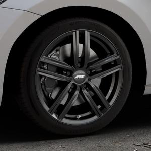 ATS Antares diamant-schwarz Felge mit Reifen in 17Zoll Winterfelge Alufelge auf silbernem Volkswagen (VW) Touran III Typ 1T (15->) ⬇️ mit 15mm Tieferlegung ⬇️ Industriehalle 1 Thumbnail