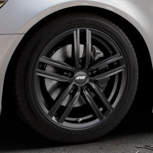 ATS Antares diamant-schwarz Felge mit Reifen in 18Zoll Winterfelge Alufelge auf silbernem Audi A6 Typ 4G/C7 (Limousine) ⬇️ mit 15mm Tieferlegung ⬇️ Industriehalle 1 Thumbnail