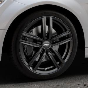 ATS Antares diamant-schwarz Felge mit Reifen in 18Zoll Winterfelge Alufelge auf silbernem Mercedes C-Klasse Typ W204 Limousine ⬇️ mit 15mm Tieferlegung ⬇️ Industriehalle 1 Thumbnail