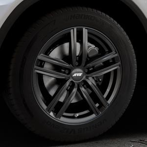 ATS Antares diamant-schwarz Felge mit Reifen in 18Zoll Winterfelge Alufelge auf silbernem Mercedes GLC-Klasse Typ X253 ⬇️ mit 15mm Tieferlegung ⬇️ Industriehalle 1 Thumbnail