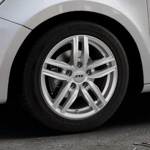 ATS Antares polar-silber Felge mit Reifen in 15Zoll Winterfelge Alufelge auf silbernem Audi A1 Typ 8X (Sportback) ⬇️ mit 15mm Tieferlegung ⬇️ Industriehalle 1 Thumbnail