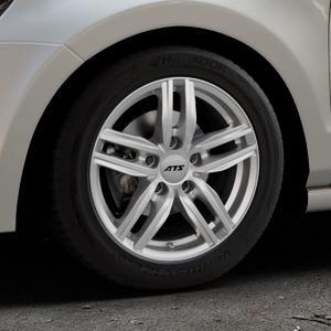 ATS Antares polar-silber Felge mit Reifen in 15Zoll Winterfelge Alufelge auf silbernem Volkswagen (VW) Polo V Typ 6R ⬇️ mit 15mm Tieferlegung ⬇️ Industriehalle 1 Thumbnail