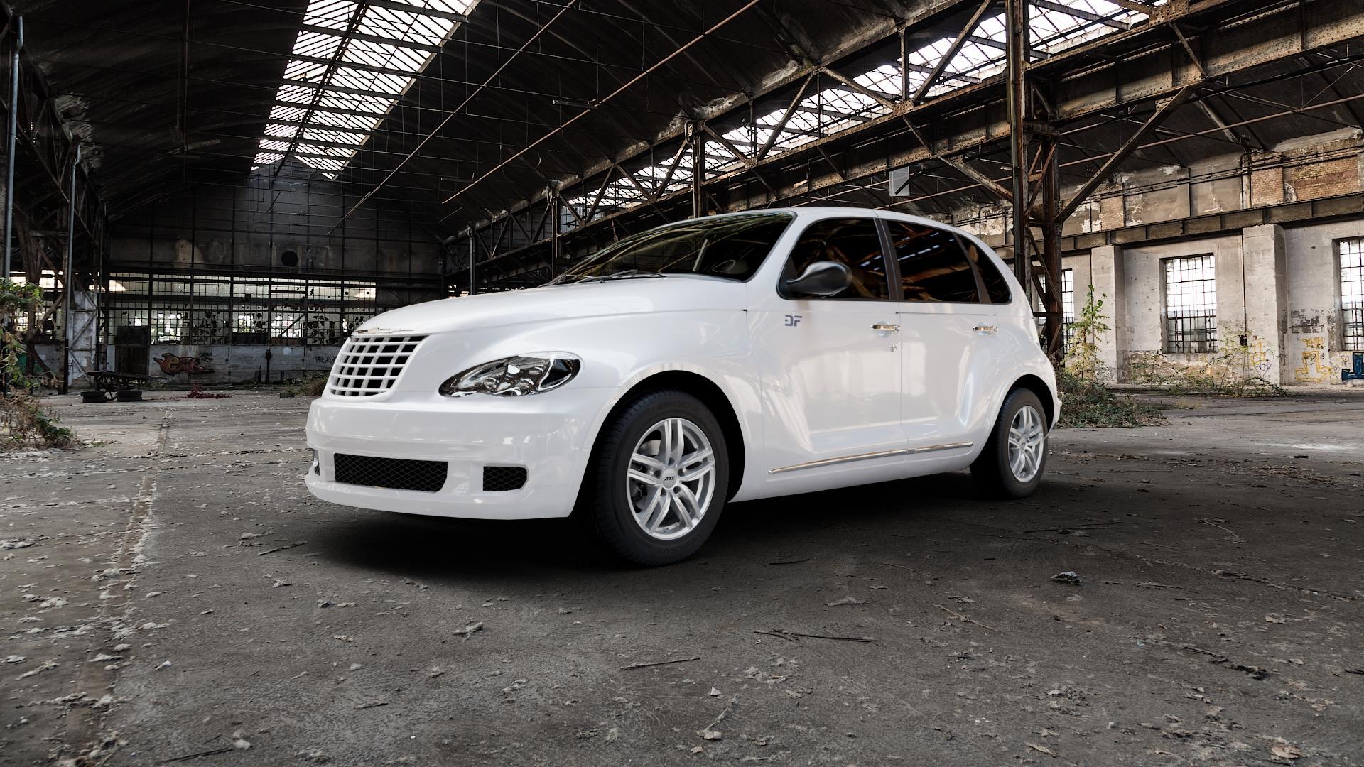 ATS Antares polar-silber Felge mit Reifen in 15Zoll Winterfelge Alufelge auf weissem Chrysler PT Cruiser Cabriolet ⬇️ mit 15mm Tieferlegung ⬇️ Industriehalle 1 Camera_000