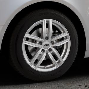 ATS Antares polar-silber Felge mit Reifen in 16Zoll Winterfelge Alufelge auf silbernem Audi A6 Typ 4F/C6 (Limousine) ⬇️ mit 15mm Tieferlegung ⬇️ Industriehalle 1 Thumbnail
