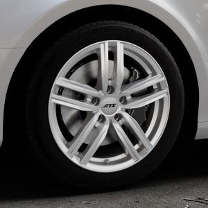 ATS Antares polar-silber Felge mit Reifen in 17Zoll Winterfelge Alufelge auf silbernem Audi A4 Typ 8K2/B8 (Limousine) ⬇️ mit 15mm Tieferlegung ⬇️ Industriehalle 1 Thumbnail