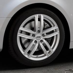 ATS Antares polar-silber Felge mit Reifen in 17Zoll Winterfelge Alufelge auf silbernem Audi A4 Typ B9 (Limousine) ⬇️ mit 15mm Tieferlegung ⬇️ Industriehalle 1 Thumbnail