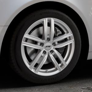 ATS Antares polar-silber Felge mit Reifen in 17Zoll Winterfelge Alufelge auf silbernem Audi A6 Typ 4F/C6 (Limousine) ⬇️ mit 15mm Tieferlegung ⬇️ Industriehalle 1 Thumbnail