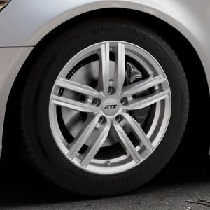 ATS Antares polar-silber Felge mit Reifen in 17Zoll Winterfelge Alufelge auf silbernem Audi A6 Typ 4G/C7 (Limousine) ⬇️ mit 15mm Tieferlegung ⬇️ Industriehalle 1 Thumbnail