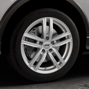 ATS Antares polar-silber Felge mit Reifen in 17Zoll Winterfelge Alufelge auf silbernem Audi Q2 Typ GA ⬇️ mit 15mm Tieferlegung ⬇️ Industriehalle 1 Thumbnail