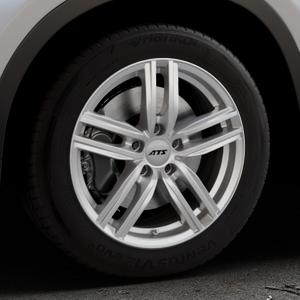 ATS Antares polar-silber Felge mit Reifen in 17Zoll Winterfelge Alufelge auf silbernem BMW X1 Typ F48 (UKL-L) (F1X) ⬇️ mit 15mm Tieferlegung ⬇️ Industriehalle 1 Thumbnail