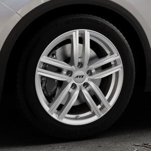 ATS Antares polar-silber Felge mit Reifen in 17Zoll Winterfelge Alufelge auf silbernem Volkswagen (VW) T-Roc ⬇️ mit 15mm Tieferlegung ⬇️ Industriehalle 1 Thumbnail