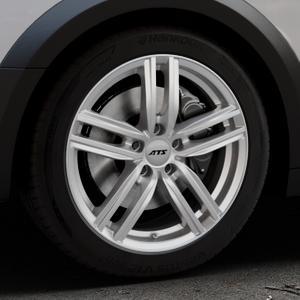 ATS Antares polar-silber Felge mit Reifen in 18Zoll Winterfelge Alufelge auf silbernem Audi A4 Typ B9 Allroad ⬇️ mit 15mm Tieferlegung ⬇️ Industriehalle 1 Thumbnail