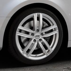 ATS Antares polar-silber Felge mit Reifen in 18Zoll Winterfelge Alufelge auf silbernem Audi A4 Typ B9 (Limousine) ⬇️ mit 15mm Tieferlegung ⬇️ Industriehalle 1 Thumbnail
