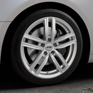 ATS Antares polar-silber Felge mit Reifen in 18Zoll Winterfelge Alufelge auf silbernem Audi A5 Typ B9 (Coupé) (Cabriolet) ⬇️ mit 15mm Tieferlegung ⬇️ Industriehalle 1 Thumbnail