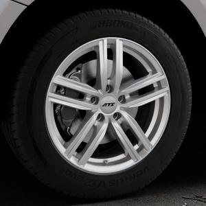 ATS Antares polar-silber Felge mit Reifen in 18Zoll Winterfelge Alufelge auf silbernem Audi Q5 I Typ 8R ⬇️ mit 15mm Tieferlegung ⬇️ Industriehalle 1 Thumbnail