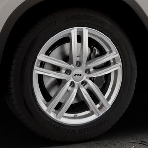 ATS Antares polar-silber Felge mit Reifen in 18Zoll Winterfelge Alufelge auf silbernem BMW X3 Typ G01 (G3X) ⬇️ mit 15mm Tieferlegung ⬇️ Industriehalle 1 Thumbnail