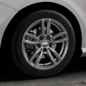 ATS Evolution dark-grey Felge mit Reifen grau in 16Zoll Winterfelge Alufelge auf silbernem Mercedes B-Klasse Typ W246 Facelift ⬇️ mit 15mm Tieferlegung ⬇️ Industriehalle 1 Thumbnail