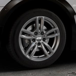ATS Evolution dark-grey Felge mit Reifen grau in 16Zoll Winterfelge Alufelge auf silbernem Mini F54 Typ UKL-L (Clubman) FMK ⬇️ mit 15mm Tieferlegung ⬇️ Industriehalle 1 Thumbnail