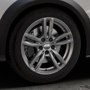 ATS Evolution dark-grey Felge mit Reifen grau in 17Zoll Winterfelge Alufelge auf silbernem Audi A4 Typ 8KH/B8 Allroad ⬇️ mit 15mm Tieferlegung ⬇️ Industriehalle 1 Thumbnail
