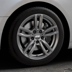 ATS Evolution dark-grey Felge mit Reifen grau in 17Zoll Winterfelge Alufelge auf silbernem Audi A5 Typ B9 (Coupé) (Cabriolet) ⬇️ mit 15mm Tieferlegung ⬇️ Industriehalle 1 Thumbnail