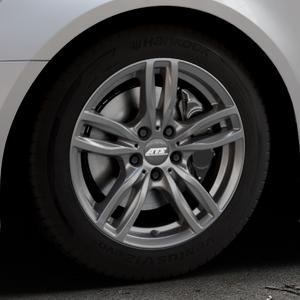 ATS Evolution dark-grey Felge mit Reifen grau in 17Zoll Winterfelge Alufelge auf silbernem Audi A6 Typ 4G/C7 (Avant) Facelift ⬇️ mit 15mm Tieferlegung ⬇️ Industriehalle 1 Thumbnail
