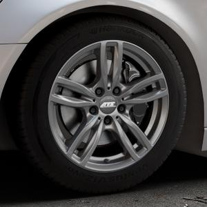 ATS Evolution dark-grey Felge mit Reifen grau in 17Zoll Winterfelge Alufelge auf silbernem Audi A6 Typ 4G/C7 (Avant) ⬇️ mit 15mm Tieferlegung ⬇️ Industriehalle 1 Thumbnail