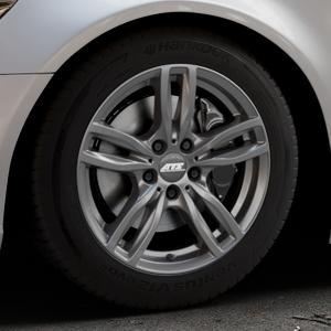ATS Evolution dark-grey Felge mit Reifen grau in 17Zoll Winterfelge Alufelge auf silbernem Audi A6 Typ 4G/C7 (Limousine) ⬇️ mit 15mm Tieferlegung ⬇️ Industriehalle 1 Thumbnail